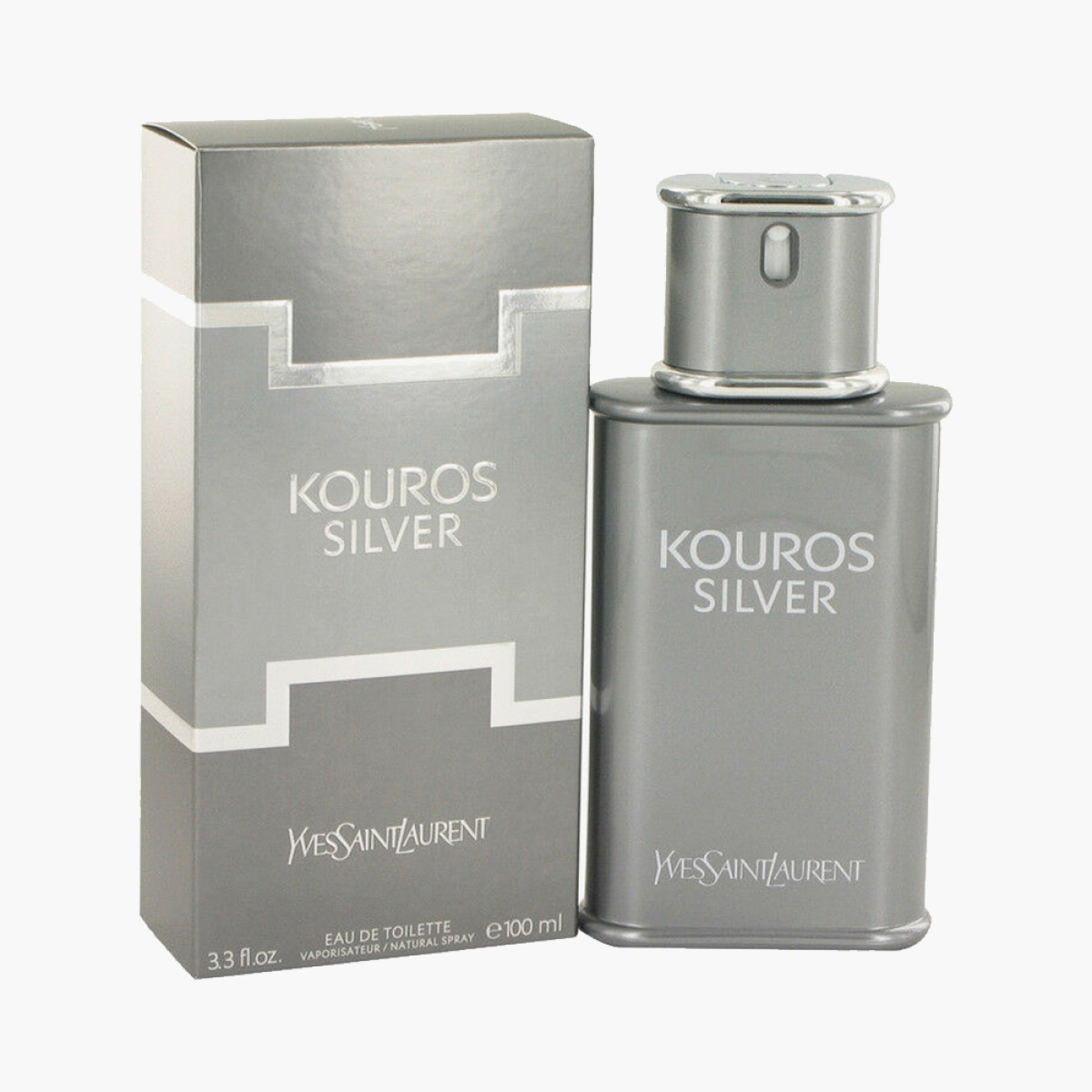 Yves Saint Laurent Kouros Silver Natural Spray for Men - 100 ml