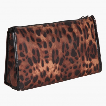 Gillian Jones Leopard Print Cosmetic Pouch