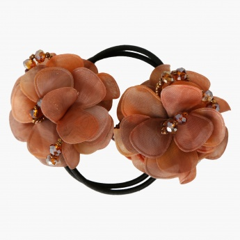 Adore Flower-embellished Ponytail Hair Tie