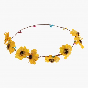Adore Faery Sunflower Head Wreath