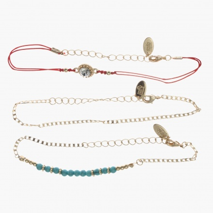 Sasha Embellished Bracelets - Set of 3