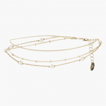 Sasha Multi-layer Embellished Anklet