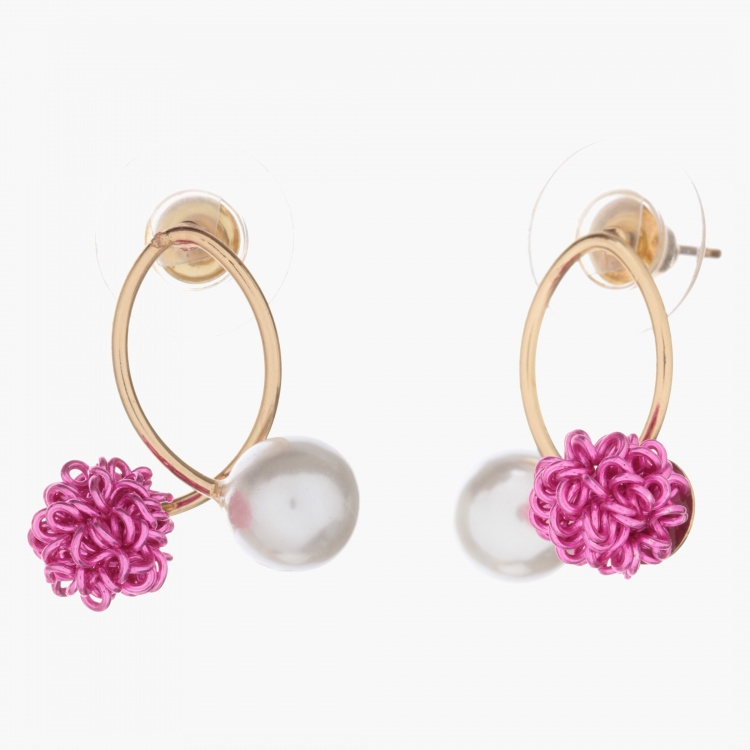 Adore Curled Earrings with Pearl