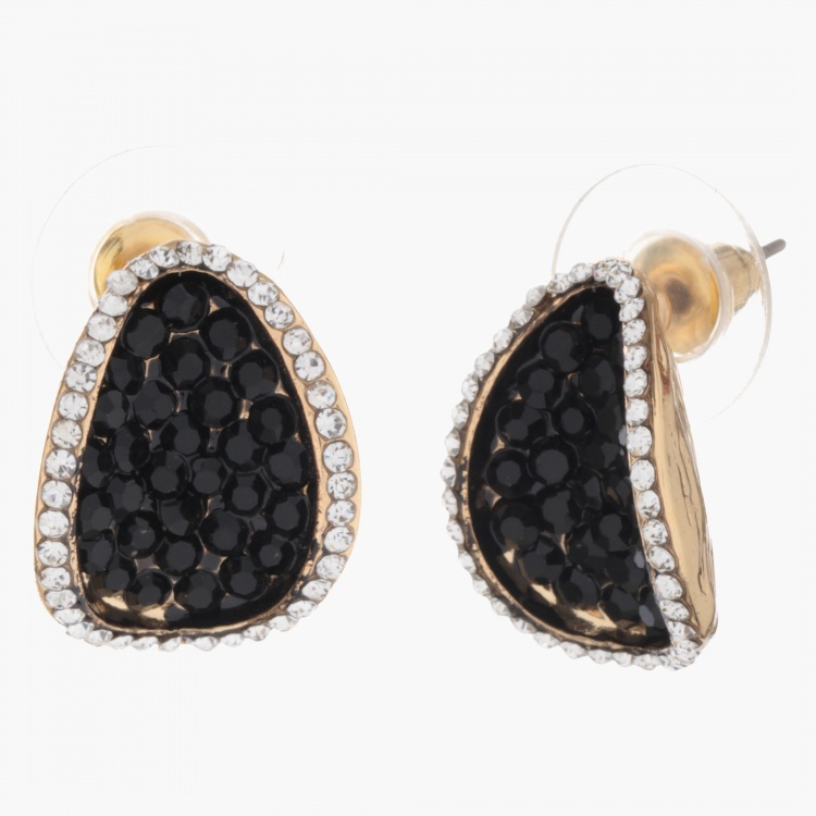 Sasha Oval Crystal-studded Earrings