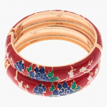 Sasha Floral Bangles - Set of 2