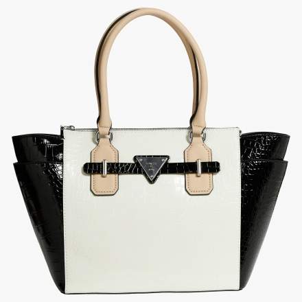 Guess Textured Monochrome Tote Bag