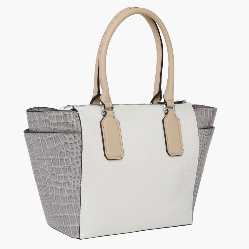 Guess Crocodile Texture Tote Bag