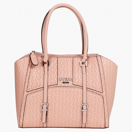 Guess Embossed Signature Print Shopper Bag