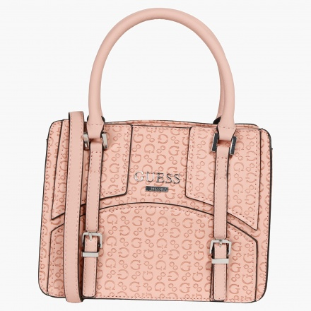 Guess Embossed Signature Print Tote Bag