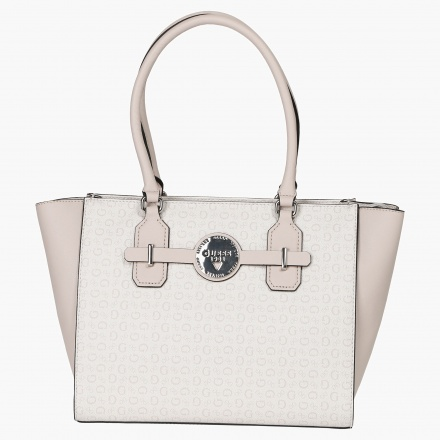 Guess Monogram Print Tote Bag
