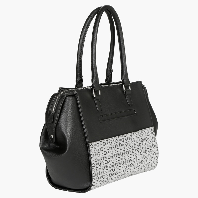 Guess Textured Monochrome Satchel Bag
