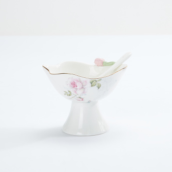 Decorative Bowl with Spoon