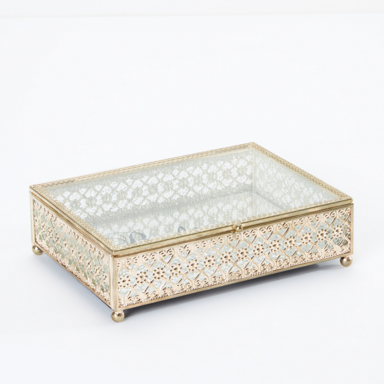 Decorative Printed Rectangular Jewellery Box