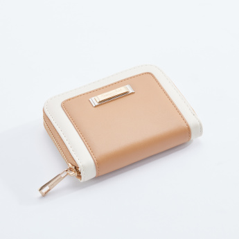 Charlotte Reid Textured Wallet with Zip Closure
