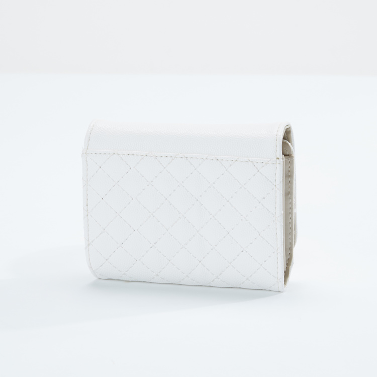 Charlotte Reid Quilted Wallet with Magnetic Snap Closure