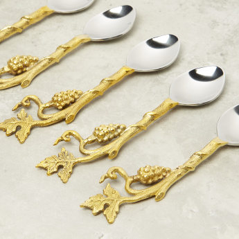 Leaf of Love 6-Piece Dessert Spoons