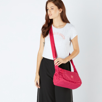 Art Sac Textured Crossbody Bag with Flap and Zip Closure