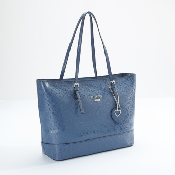 Guess Textured Shopper Bag with Zip Closure
