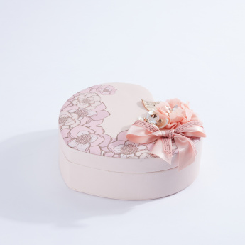 Printed Heart Shaped Trinket Box