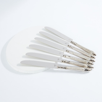 Decorative Metallic Dinner Knife - Set of 6
