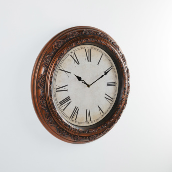 Round Wall Clock with Roman Numerals