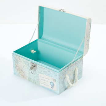 Tri-Coastal Printed Trunk with Flat Dome