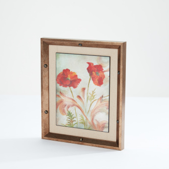 Mini Framed Art with Floral Design – 11x13 cms