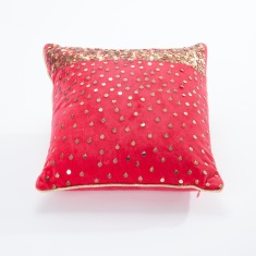 Sequin Embellished Filled Cushion -  30x30 cms