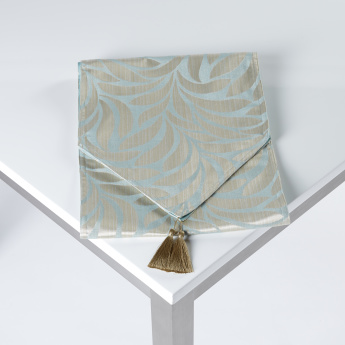 Jacquard Table Runner with Tassels