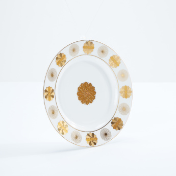 Printed Round Plate - Set of 2