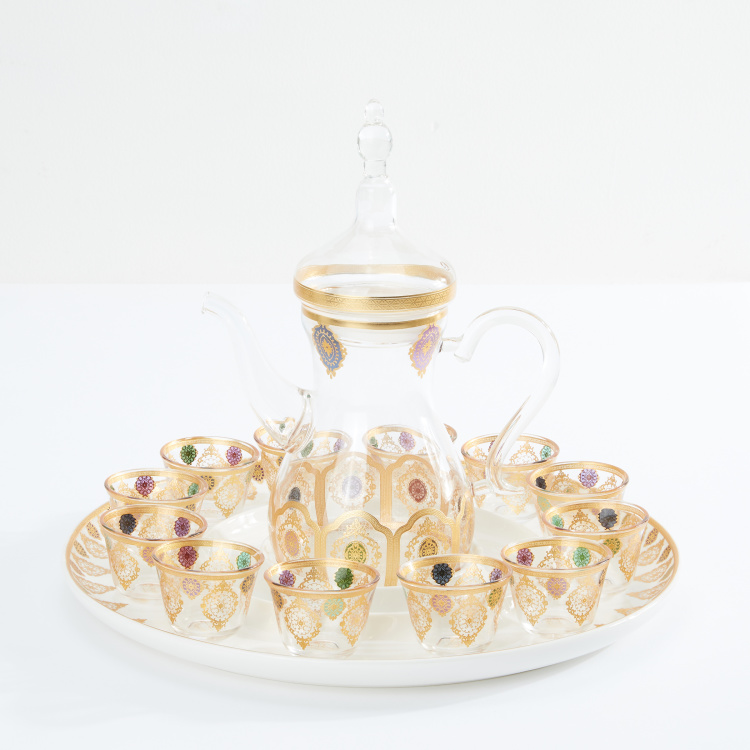 Decorative 14-Piece Tea Set