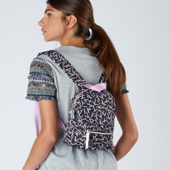 Fiorelli Printed Backpack with Zip Closure