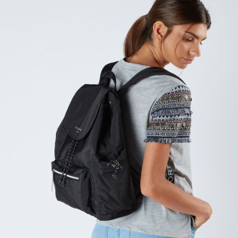 Fiorelli Backpack with Flap and Drawstring Closure