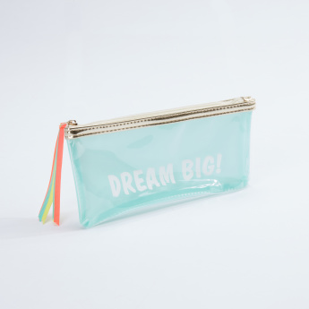 Syloon Printed Pencil Case with Zip Closure