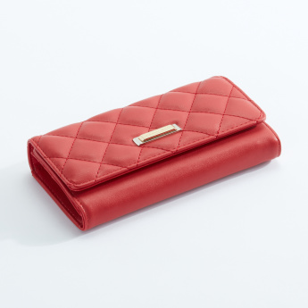 Charlotte Reid Quilted Tri-Fold Wallet with Magnetic Snap Closure