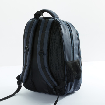 Textured Backpack with Zip Closure and Adjsutable Straps