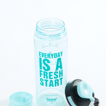icon Printed Water Bottle - 700 ml