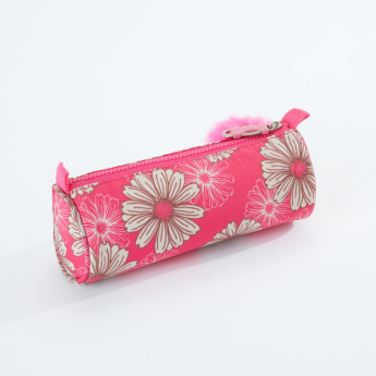 Sensazioni Printed Round Pencil Case with Zip Closure