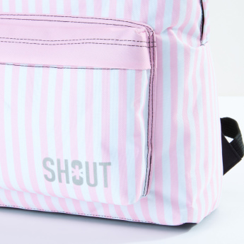 SHOUT Striped Backpack with Pencil Case