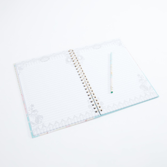 Minmie Printed Spiral Bound Notebook - A4