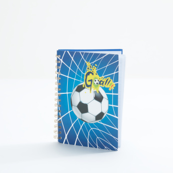 Bomi Football Printed Spiral Bound Notebook - A5