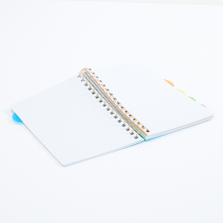 Printed 5-Subject Spiral Bound Notebook