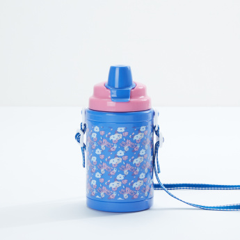 J World Printed Water Bottle with Strap