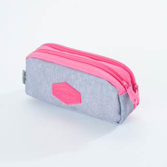 Ne.On Printed Pencil Case with Zip Closure