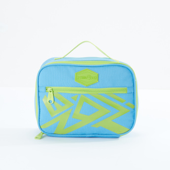 Ne.On Printed Lunch Bag with Zip Closure