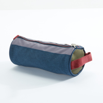 Pepe Jeans Printed Pencil Case with Zip Closure