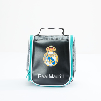 Real Madrid Printed Lunch Bag with Zip Closure