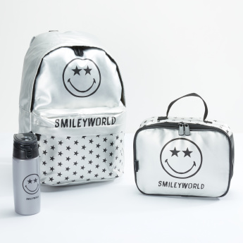 Smiley World Printed Water Bottle