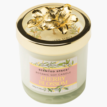 Scented Space Cherry Blossom Soy Candle with Lid