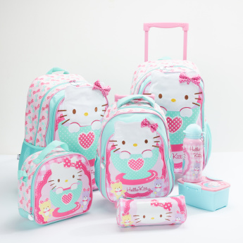 Hello Kitty Printed Trolley Backpack with Zip Closure